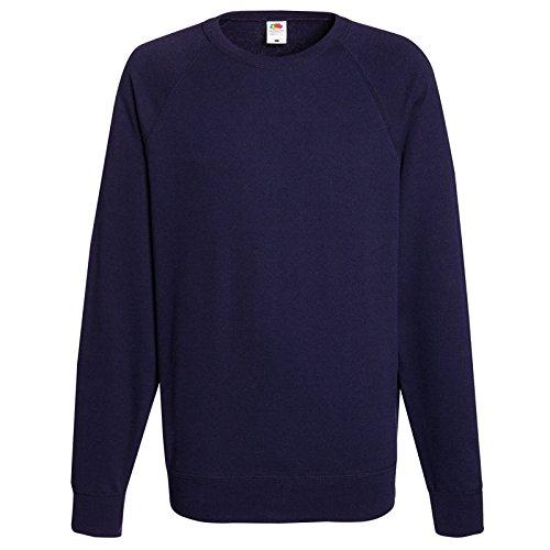 Fruit of the Loom Herren Sweatshirt Lightweight Raglan Sweat Royal Blue