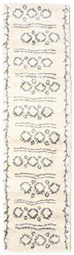 Tappeto berber shaggy yani 80x300 tappeto moderno, passatoia