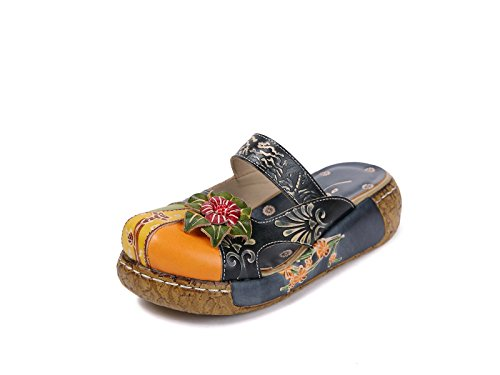 Sandalias Mujer, Popoti Sandalias Cuero Zapatillas