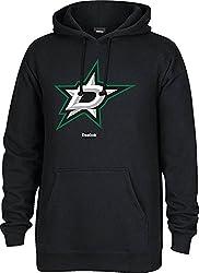 NHL Dallas Stars Mens Jersey Crest Pullover Hoodie, Medium, Black