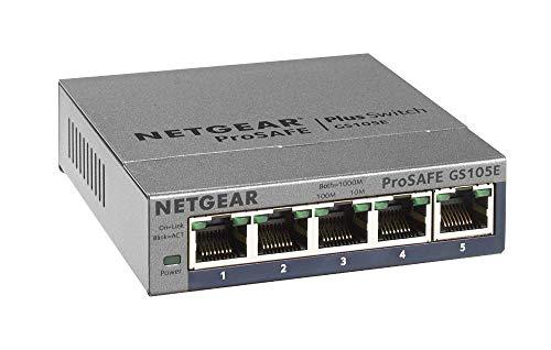 Netgear GS105E-200PES - Switch red conmutador Smart