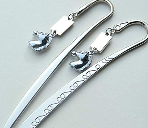 Testa di cavallo fantasia ciondolo animale metallo segnalibro graffetta studenti o uffici uso (argento)