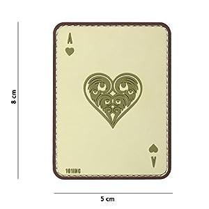 "Patch 3D PVC Carte à jouer Ace Of Hearts ""As de Coeur"" Sable / Cosplay / Airsoft / Camouflage"