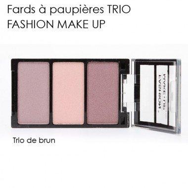 Fashion Make-Up FMU1100306 Ombres à Paupières Trio N°6 Fiery Rose