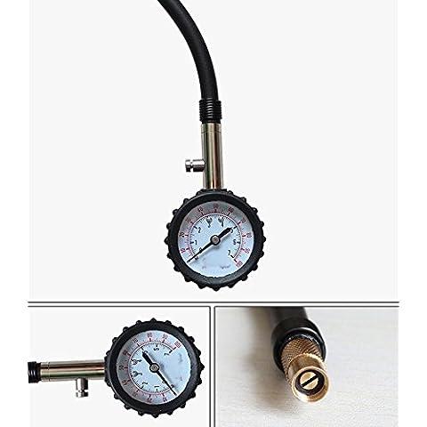 Medidor de presión de neumáticos 150PSI, la precisión dial de 2.5, neumáticos, manómetro con manguera de alta precisión, mejor para coche, moto, bicicleta, Van, Camión, Camión, Tractor.