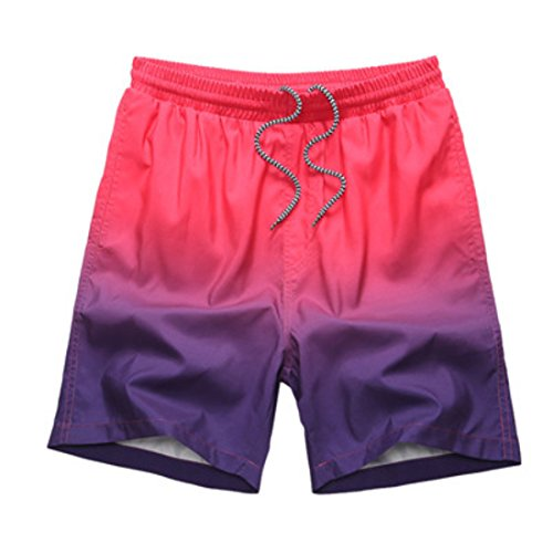 Men's Bermuda Masculina Beach Shorts DeepPink