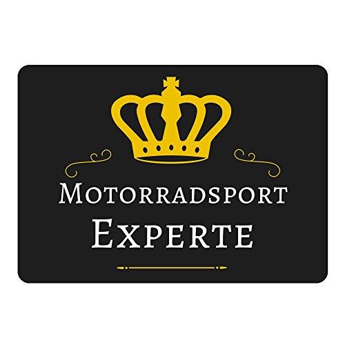 Mousepad Motorradsport Experte schwarz