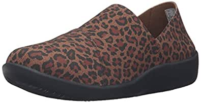 Clarks Women's Sillian Firn Slip-On Loafer, Leopard, 6 M US