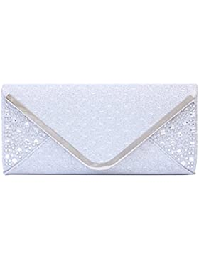 Damara Paillette Strass Damen Party Adlig Handtasche Clutch