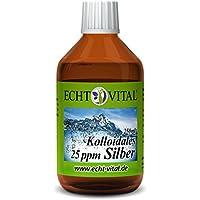 Echt Vital Kolloidales Silber 25 ppm - 1 Flasche mit 250 ml - Reinstsilber (Reinheitsstufe 99,99%) preisvergleich bei billige-tabletten.eu