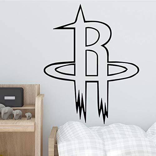 Basketball Team Design Wandaufkleber Für Wohnkultur Wohnzimmer Dekoration Jungen Schlafzimmer Zubehör Wandtattoo Remvoable Decor 43 cm X 54 cm (Tank Fisch Man Spider)