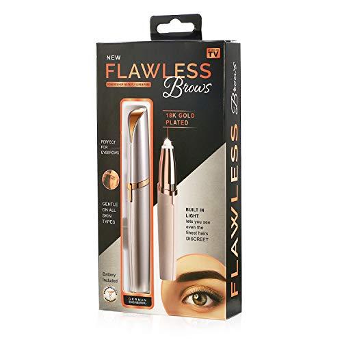 Elektro Augenbrauen Trimmer Augenbrauenrasierer Frauen Augen Make-up Elektrisch Rasierer Gesichthaarschneider Tragbar Augenbrauenformer mit Bürste, Rosegold