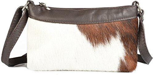 estern Country Style Trachten Tasche exklusive Geschenk Idee Felltasche Handtasche klein braun : ) (Country Tracht)