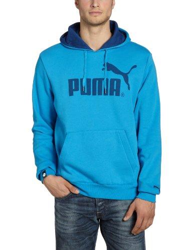 PUMA Herren Sweatshirt Logo Hooded, Fleece, dresden blue-estate blue, M, 819272 07 -