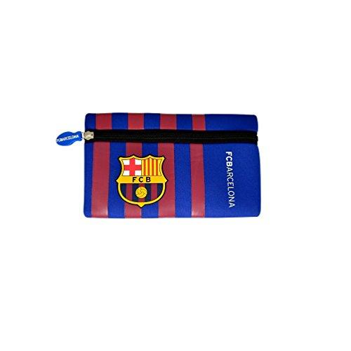 Neu Offiziell Fußball Team Flach Reissverschluss Federmäppchen (Verschiedene vereine zur auswahl aus Ideal für das Schulanfang staffel - Barcelona FC, Flaches Reißverschluss Mäppchen