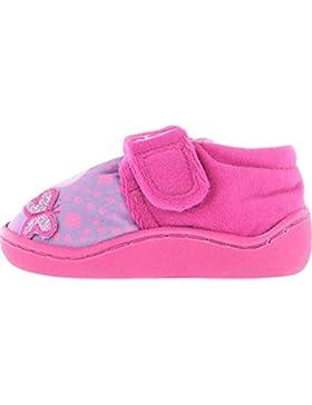 Easy Fit, Peppa Pig Theme Pantoffeln Für Mädchen, Mit Schmetterlingsdetail Auf Der Vorderseite - Pink - UK GRÖßEN...
