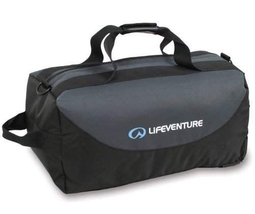 LifeVenture Expedition Wheeled Duffle 120L Gear Bag - Grey Black - One Size (Gear Duffle)