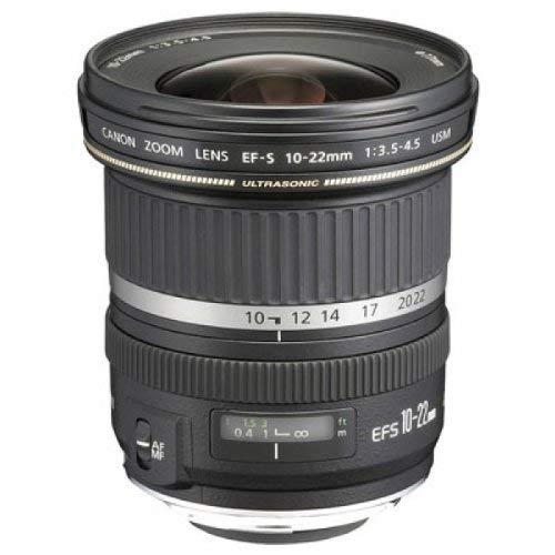 Canon Objektiv EF-S 10-22mm F3.5-4.5 USM Zoomobjektiv Ultraweitwinkel Lens für EOS (77 mm Filtergewinde) schwarz