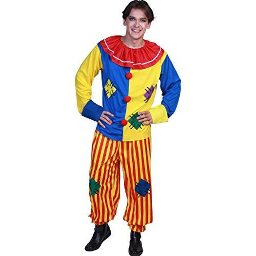 Joker Circus Kostüm - EraSpooky Erwachsene Circus Clown Kostüm Bunte Anzug Halloween Party Joker Rollenspiel