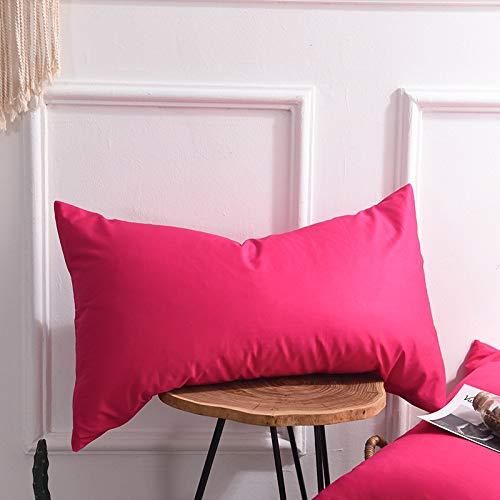 YUHUALI Ropa de Cama de Textiles para el hogar Funda de Almohada de algodón Simple Funda de Almohada...