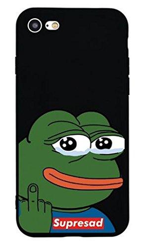 WRAP® Coque iPhone 5 5S SE Supreme Supersad Fuck you Noir et Vert Silicone Souple