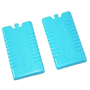 41AL0UZGyzL. SS300  - Ice Packs Freezer Blocks 2 Assorted colours Blue Green Pink or Yellow