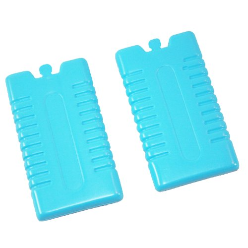 Ice Packs Freezer Blocks 2 Assorted colours Blue Green Pink or Yellow