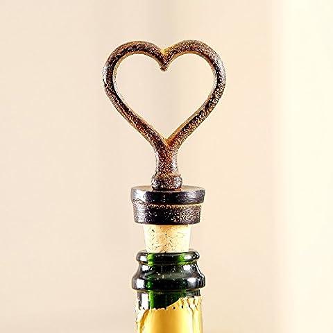 Cast Iron Heart Bottle Stopper H11cm