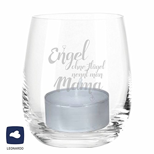 4you Design Leonardo Windlicht Engel ohne Flügel nennt Man Mama, Windlicht, Geschenkidee, Muttertagsgeschenk, Geschenk zum Muttertag, Geburtstag, zu Weihnachten