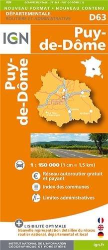 D63 PUY-DE-DOME  1/200.000