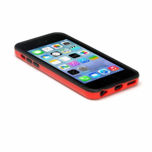 G4GADGET® Iphone 4S/4 Silicon Bumper White/Green 5CRed/Black