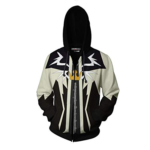 Henxizucun Herren Langarm Zip Up Hoody Sweatshirts mit Känguru Taschen Neuheit Movie Hoodie Coole Tops,A,XXXXXL