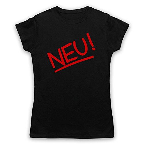 Inspiriert durch Neu Band Logo Unofficial Damen T-Shirt Schwarz