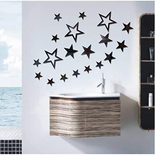 Etiqueta de la Pared decoración1/Set DIY Acrylic Crystal Stereo Wall Sticker 3D...