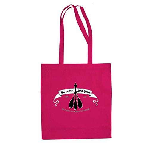 Planet Nerd HP Wirtshaus Drei Besen - Stofftasche/Beutel, Farbe: pink