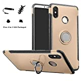 LFDZ Xiaomi Mi Max 3 Case, 360 Degree Rotating [Ring Holder