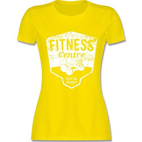 CrossFit & Workout - Fitness Centre - tailliertes Premium T-Shirt mit Rundhalsausschnitt für Damen Lemon Gelb