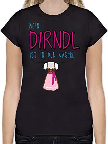 Oktoberfest Damen - Mein Dirndl ist in der Wäsche - M - Schwarz - L191 - Tailliertes Tshirt für Damen und Frauen T-Shirt