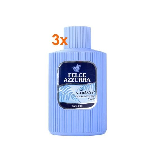 PAGLIERI Felce Azzurra Poudre corporelle (talc), boîte de 3 x 200 g