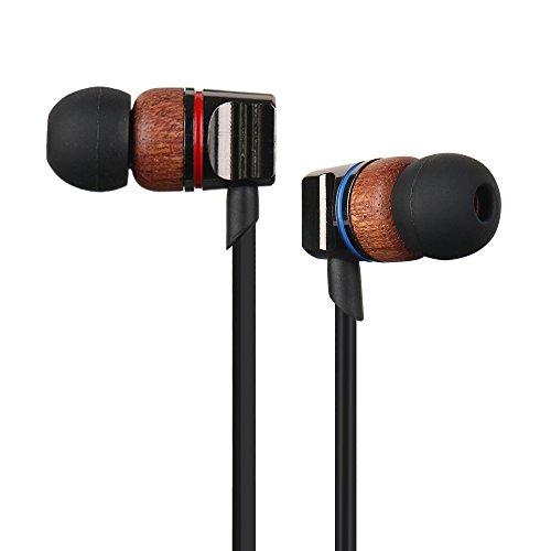 Woody in-ear kopfhörer mit mikrofon lärm isolieren Ohrhörer und lautstärke, stereo bass ohrstöpsel, 3,5mm hifi kopfhörer mit reißverschluss (Reißverschluss Natürliche)