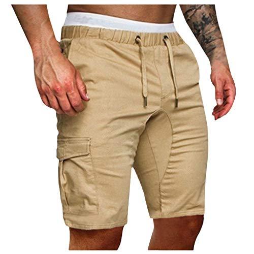 Poachers Men's Pants,Herren Mode Jogginghose Hose LäSsig Elastische Jogginghose Sport Solide Baggy Taschen Hose