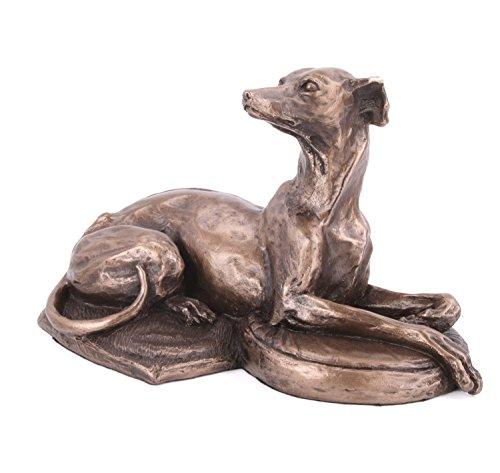 Perro Whippet tumbado Harriet Glen Escultura bronce