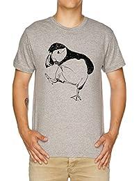 Vendax Frailecillo Toma Una Caminar Camiseta Hombre Gris