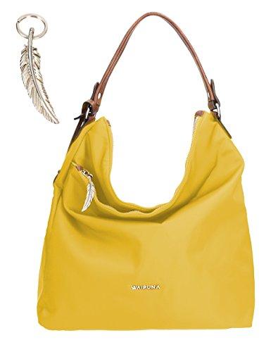 Waipuna, Borsa tote donna beige camel / camel giallo / giallo
