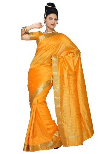 selecciones-de-la-india-calabaza-art-seda-saree-sari-tela-india-golden-border