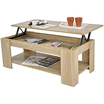 Spot On Dealz Oak Finish Wooden Lift Up Coffee Table Living Room