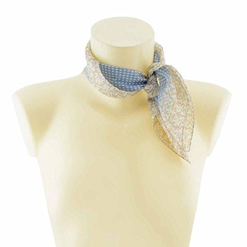 Echarpe petite soie Bleu