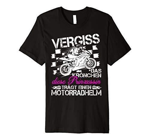 Vergiss Das Krönchen Diese Prinzessin Motorrad T-shirt
