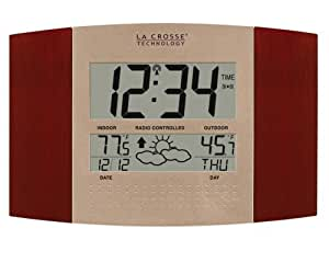 La Crosse Technology WS-8157U-IT-CH LC atomique Horloge murale num-rique