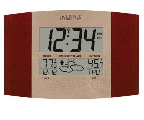LA CROSSE TECHNOLOGY ws-8157u-ch-it Atomic Uhr mit Outdoor Temperatur und Wetter